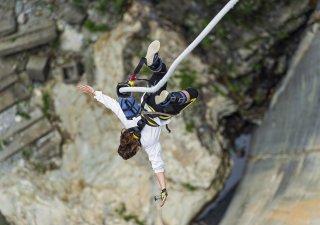 Bungee jumping, ilustrační foto