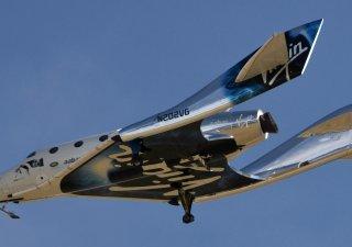 Vesmírná loď společnosti Virgin Galactic britského miliardáře Richarda Bransona.