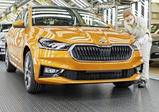 Výroba Škoda Fabia v mladoboleslavském závodu