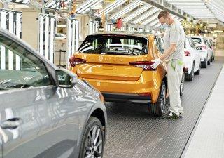 Výroba v mladoboleslavské továrně Škoda Auto