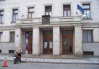 Budova Ministerstva financí na Malé straně v Praze.