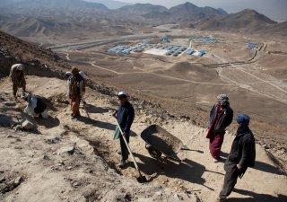 vykopávky v oblasti Mes Ajnak, Afghánistán