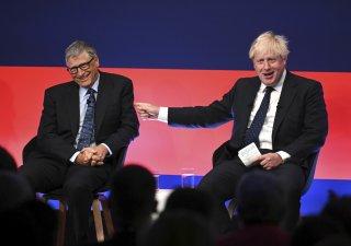 Boris Johnson a Bill Gates