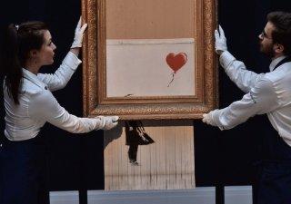 Napůl skartovaný obraz Banksyho