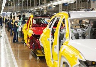 Finální montáž vozu v nošovické automobilce Hyundai.
