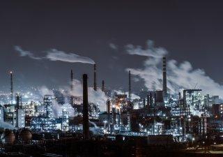průmyslový areál, Čína, smog