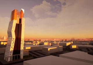Střecha mrakodrapu N Tower se změní podle návrhu studentů brněnské VUT.