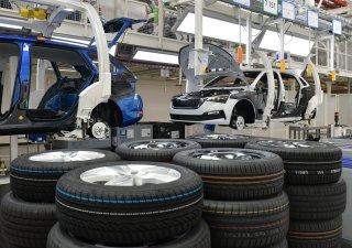 Pásová výroba v Škoda Auto, ilustrační foto