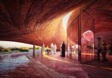 Strategie pohybu návštěvníka postavili architekti na postupném objevování a odhalování stavby. V podstatě to znamená, že objekt není rozčleněn do jednotlivých místností.