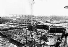 Nosné ocelové konstrukce budovy byly vyrobeny v letech 1975 až 1979 ve vítkovických železárnách.